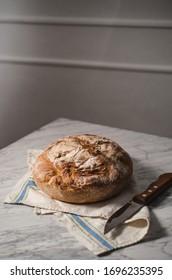 Rustic organic bread, slow life
