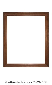Rustic photo frame - isolated on white background