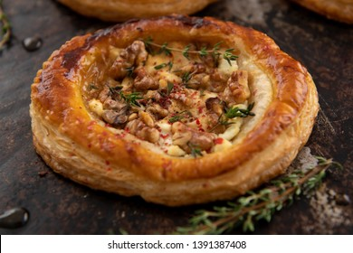 Rustic Puff Pastry Tart with Goat Cheese and Walnuts