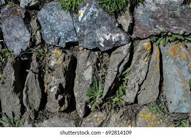 Rustic Slate Wall