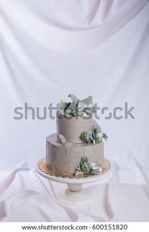 Rustic Style Wedding Cake Decorated Stone Stock Photo Edit Now
