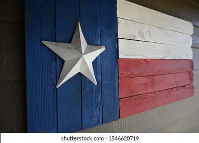 Rustic Texas flag made out of old fence