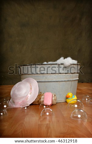 Rustic Tub Girl Stock Photo (Edit Now) 46312918 - Shutterstock