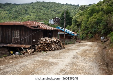 Rustic Village in Chin State, Myanmar (Burma)