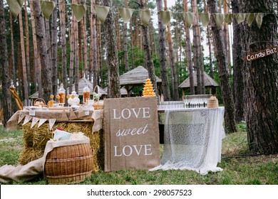 rustic wedding candy bar