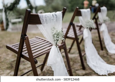 rustic wedding ceremony chairs