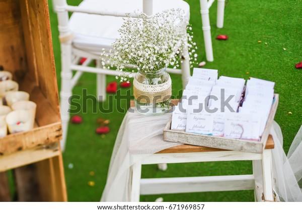 Rustic Wedding Outdoor Photo Zone Hand Stock Photo Edit Now