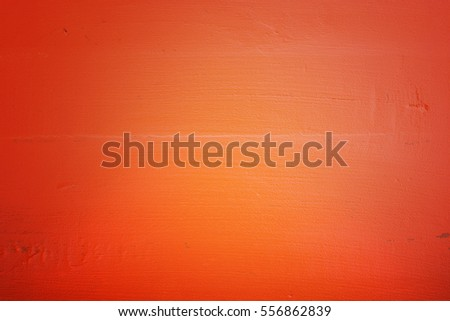Rustic Wood Background Painted Orange Halloween Stock Photo