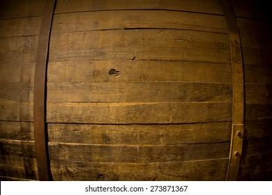 Rustic wooden barrel background