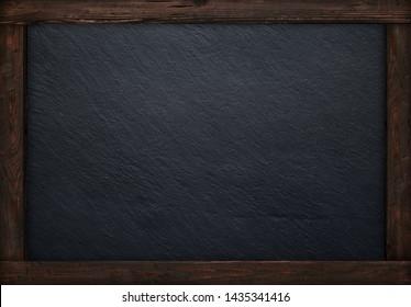 Arrière-plan du menu noir en bois rustique