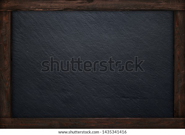 Rustic wooden blackboard menu background