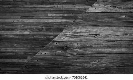 Rustic wooden boards cut at an angle