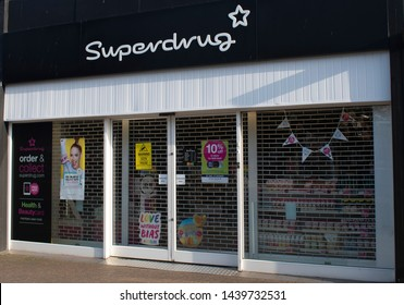Rustington, West Sussex, UK, June 29, 2019. Superdrug store in Rustington.