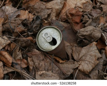 rustiy tin can outdoors