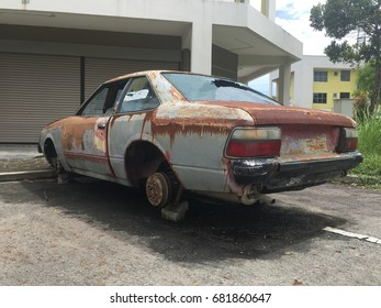 Rusty and abandoned cars