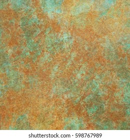 Rusty Aged Turquoise Copper