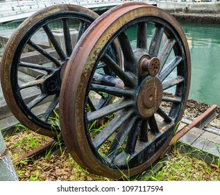 Rusty antique wheel.