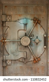 Rusty Bank Vault Door