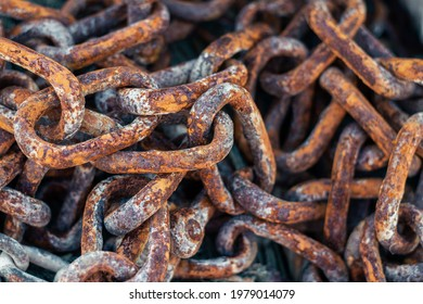 Rusty Chains abstract background close up