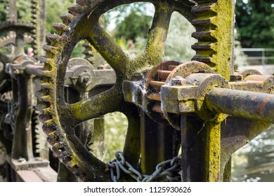 Rusty Control Gear wheel for UK canal