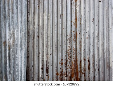 rusty corrugated iron metal texture background