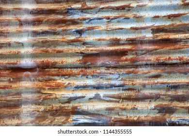 Rusty corrugated iron near Petford on the Atherton Tableland in Queensland, Australia