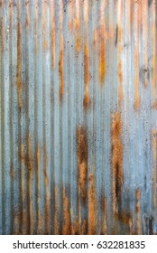 Rusty corrugated iron siding vintage background