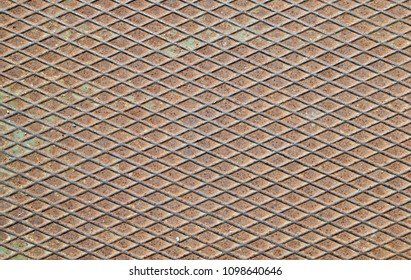 Rusty and dirty metal sheet