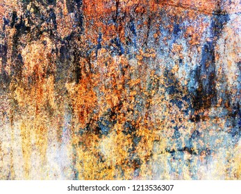 rusty dirty metal surface