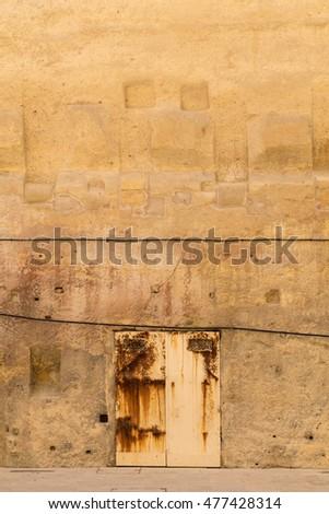 Rusty doorway in the