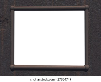 Rusty frame with blank area for copy text