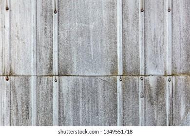 rusty galvanized corrugated metal pattern. old metal sheet texture