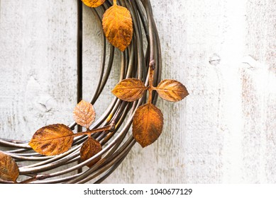 Rusty garden wreath decoration