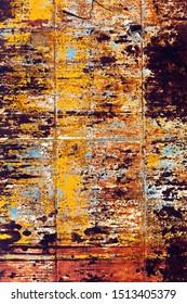 rusty grunge metal background of an old watertank