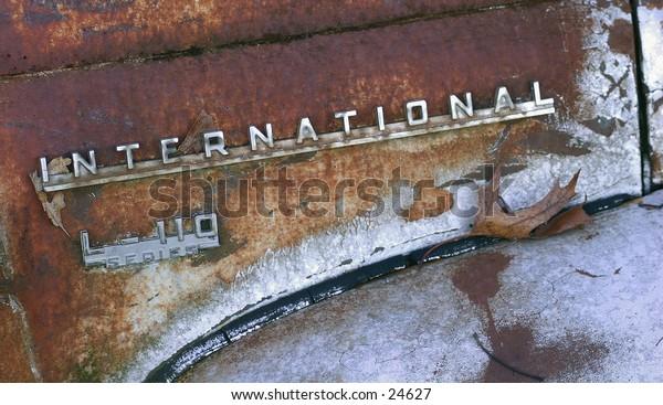 Rusty International Truck