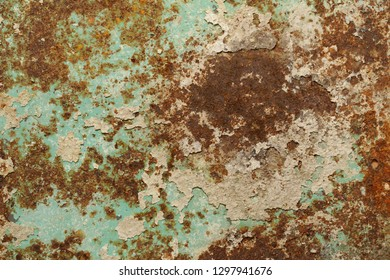 rusty iron background with old paint