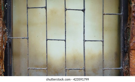Rusty iron bars texture background