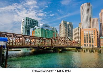 Rusty Iron Bridge in Boston