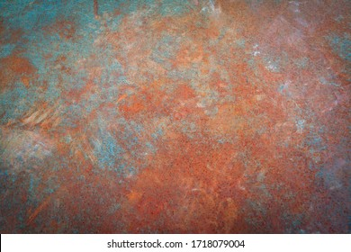Rusty iron. The texture of the old rusty metal sheet. Closeup.