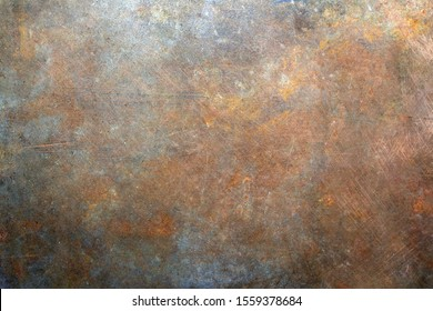 Rusty metal background, scratches texture