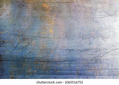 Rusty metal board, old texture