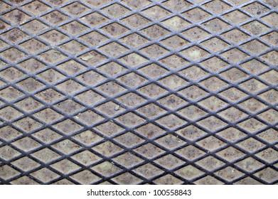 Rusty metal floor texture