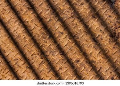 Rusty metal platform, pattern background