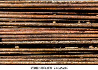 Rusty metal rods