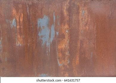 Rusty metal sheet, metal background, industrial texture