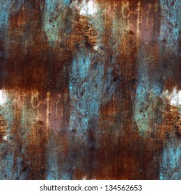 rusty metal texture pattern plate blue brown iron seamless background seamless background
