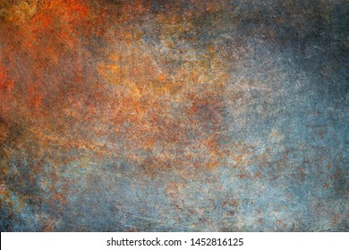 Rusty metal texture, vintage steel plate