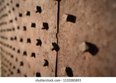 Rusty metal textured backgrounds.
