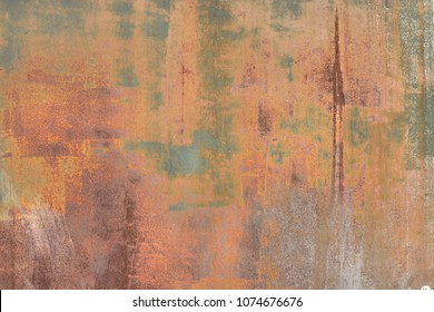 rusty metallic background with colored spots