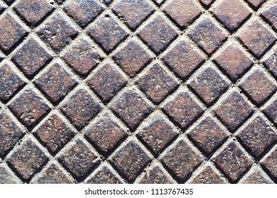 Rusty metallic surface.